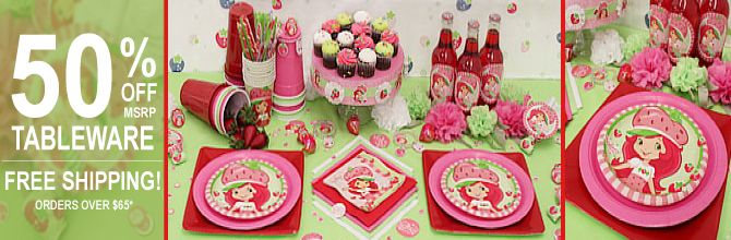srawberry shortcake bday supplies and many other themes at great prices