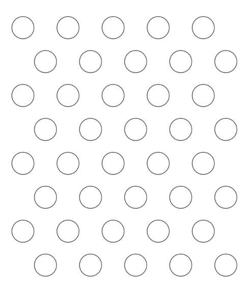 """Piping Guide: Print, copy and enlarge on copy machine to 1"""" circles for small macarons, 2"""" circles for large macarons; slip it under your silicon baking sheet or parchment paper to help you pipe consistent sized macarons."""