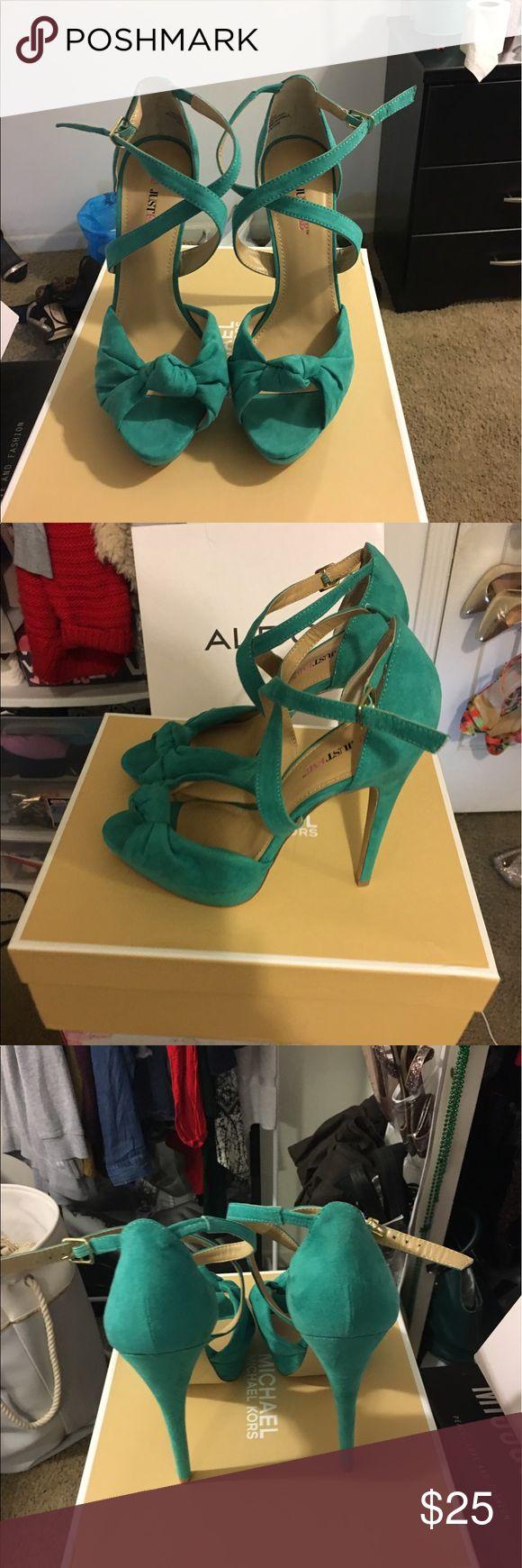 JustFab Sea Green Heels Sandals Sea Green Heeled Sandals - Never Worn JustFab Shoes Heels