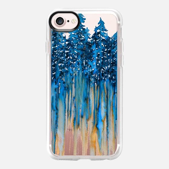 """""""THROUGH THE TREES, BOLD BLUE"""" By Artist Julia Di Sano, Ebi Emporium on #Casetify @Casetify #colorful #trees #forest #EbiEmporium #CasetifyArtist #iphonecase #iphone6 #iphone6s #iphone7 #iphone7plus #tech #samsung #clearcase #boho #blue #royalblue #cobalt #winter #2017 #wanderlust #outdoors #nature #forest #transparent #mountains #nature #watercolor"""