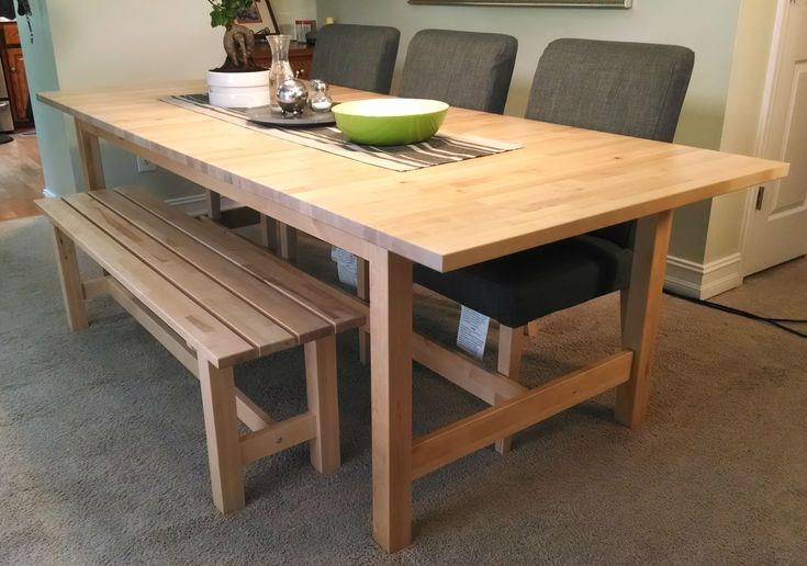 If space is tight around your dining table a bench might for Good dining tables for small spaces