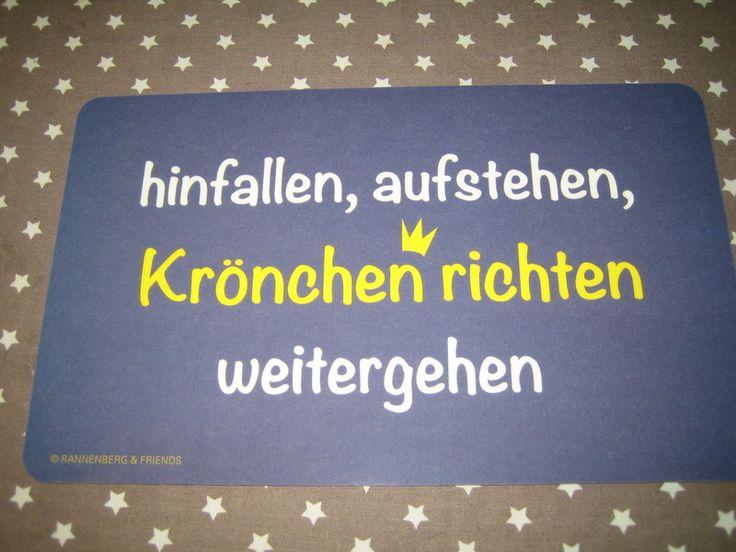 Frühstücksbrettchen mit lustigem Spruch, Krönchen von Stofftraeume-Hoexter via dawanda.com