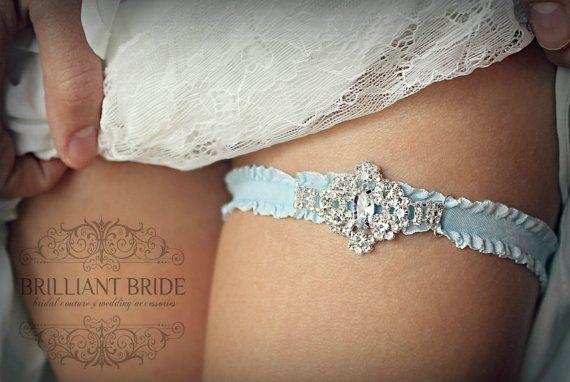 Cinderella Wedding Garter, Something Blue Snowflake Garter - Blue Toss Garter, Bridal Lingerie Accessories, Plus Size Garter winter garter