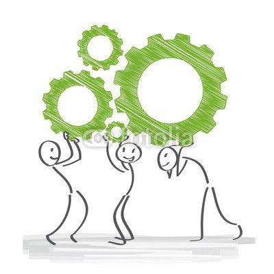 Zahnrad, Teamwork, Zusammenarbeit