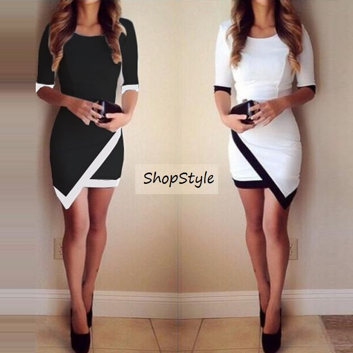 Bandage Bodycon Asymmetric Evening Sexy Party Cocktail Mini Dress ... fe41feda7dc8