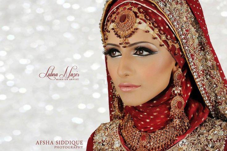 Hijabi bride.