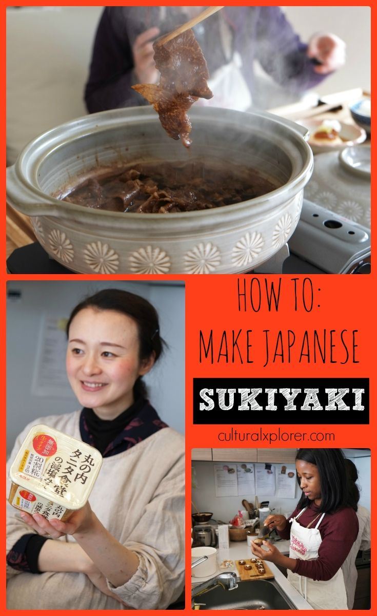 Japanese Food 101: How to prepare and eat Japanese Sukiyaki (a beef soup) | Cultural Xplorer