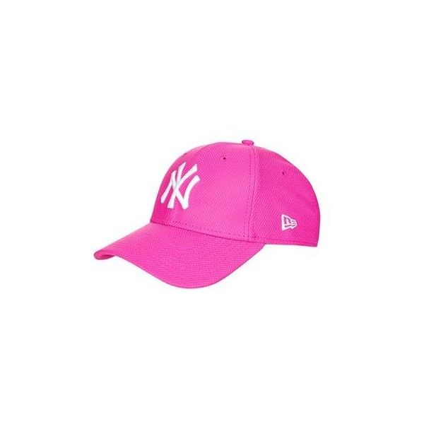 Diamond 9forty Cap by New Era ($38) ❤ liked on Polyvore featuring accessories, hats, pink, topshop hats, pink hat, cap hats, pink cap and embroidery hats