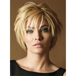 Cheveux humains droits en couches courtes avec perruques Bangs Capless: M.Wigsbuy.com   – Hair and beauty