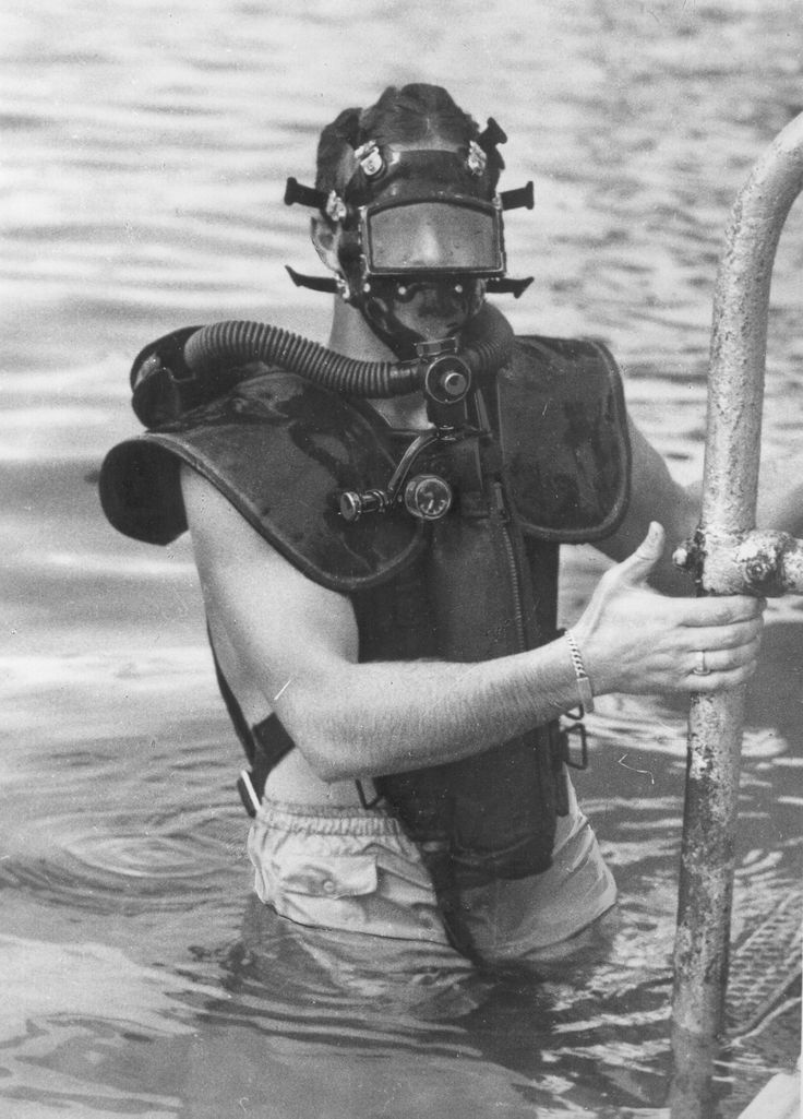 Office of Strategic Services (OSS) Maritime Unit (MU) combat divers are seen…