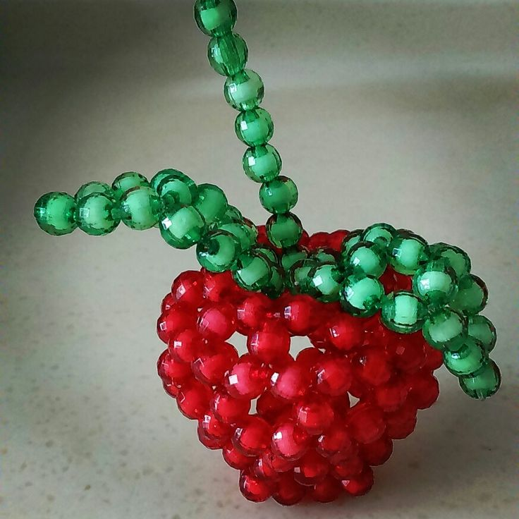 Diy mid acrylic beaded Apple decoration.