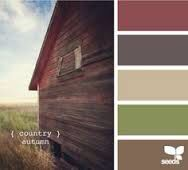 Soft wood colors with that lovely burgundy too!
