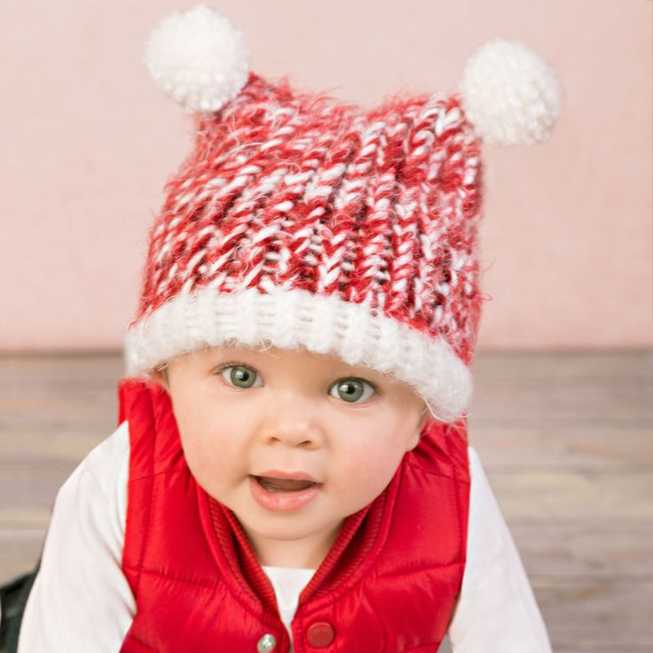 """This quick and easy loom knit hat will keep baby toasty warm. A perfect gift idea! <p style=""""text-align:center""""><img alt="""""""" src=""""http://demandware.edgesuite.net/aawa_prd/on/demandware.static/-/Sites-simplicity-project-master/default/dw79368827/images/project/Project-Ratings_Yarn-Weights/Easy.jpg"""" title="""""""" /></p>"""