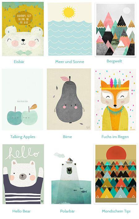 Bären, Birnen, Berge – 9 schöne Prints für Minis Kinderzimmerwand…