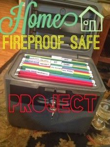 Fireproof Safe Project, what to put in a home fireproof safe. Home organization.