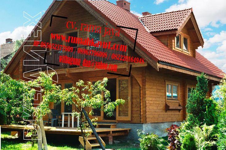 jual rumah kayu minimalis modern
