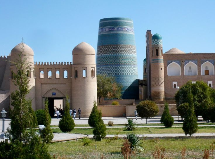 """Khiva - city-museum, like Pompeya and Gerkulanum, but unlike those places it is alive city. As many Eastern cities, Khiva was born """"on the water"""" - in the lower reaches of the Amudarya river and grew up on the irrigated lands of Khorezm oasis."""