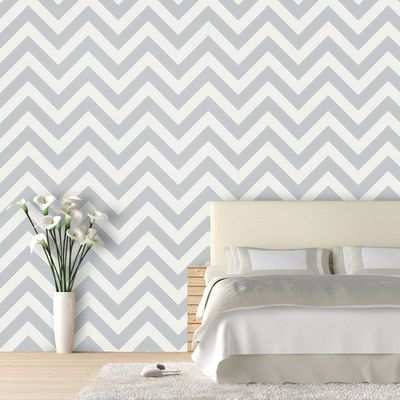 Found it at Wayfair - Zig Zag Geometric Panel Wallpaper