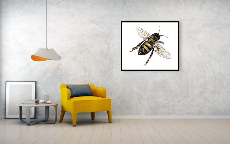 My Grandfather was a beekeeper, so this painting is in his honor. Bees are little reminders that we all can achieve the impossible. Bees are not physically supposed to be able to fly because of their body weight, but they somehow do it anyways! Amazing!  #bee #bees #garden #gardener #gardening #spring #mothersday