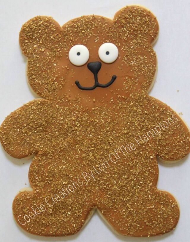 Custom extra large teddy bear cookie