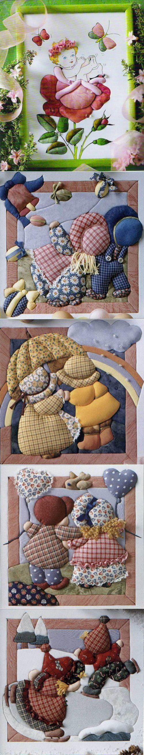 Лоскутные картины в японском стиле кинусайга — Рукоделие