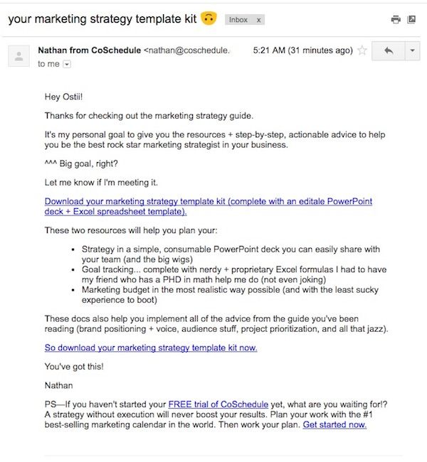 Email template - your marketing strategy template kit