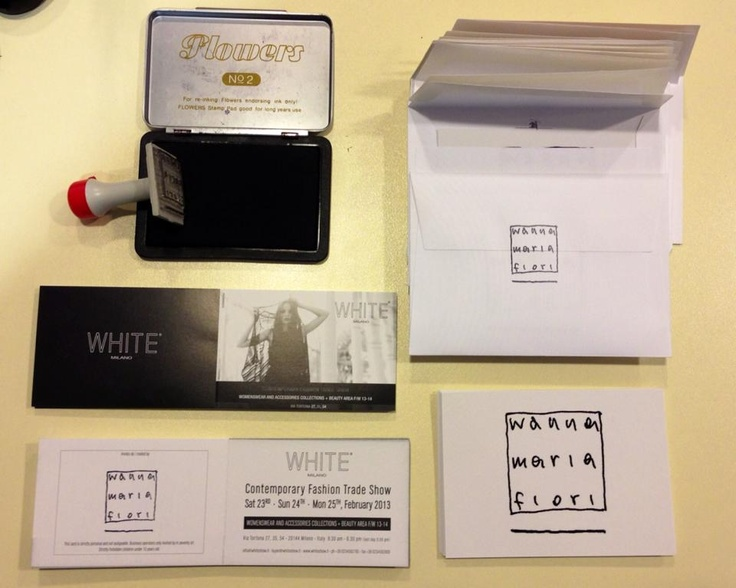 "Ready to send invitations... ""wanna maria fiori"" @ white milan 23. 24. 25. February 2013 via tortona 27 www.wannamariafiori.com"
