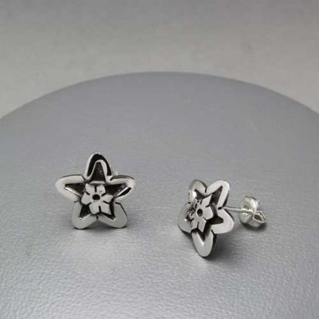 Aretes de plata, earring in sterling silver