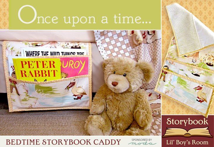 Moda Fabics' Lil' Rascals Storybook Bedroom: Bedtime Picturebook CaddyBedtime Stories, Beds Caddy, Bedtime Picturebook, Picturebook Caddy, Bedtime Storybook, Beds Book, Bedtime Book, Storybook Caddy, Bedside Book