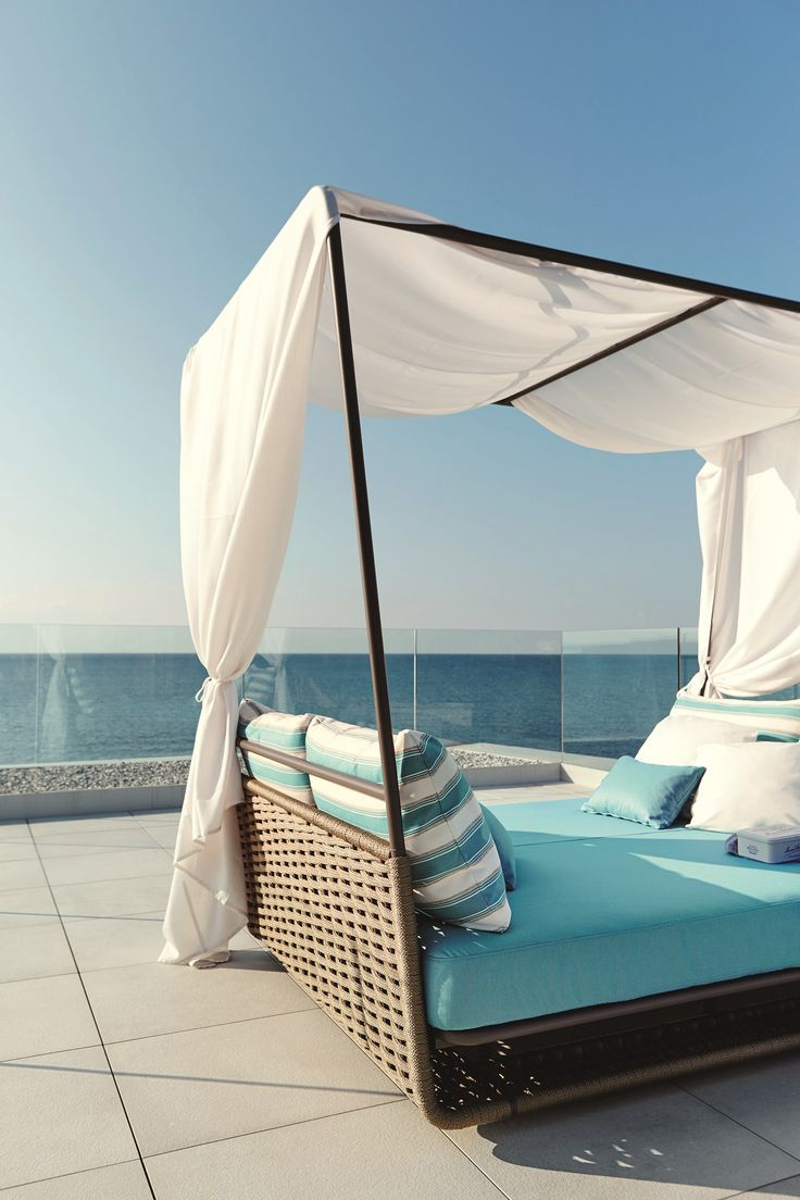 Beds on pinterest gardens floating bed and wicker patio furniture - Canopy Garden Bed Portofino Garden Bed Roberti Rattan
