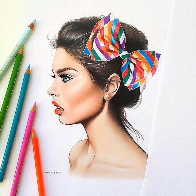 girl with bow✏️