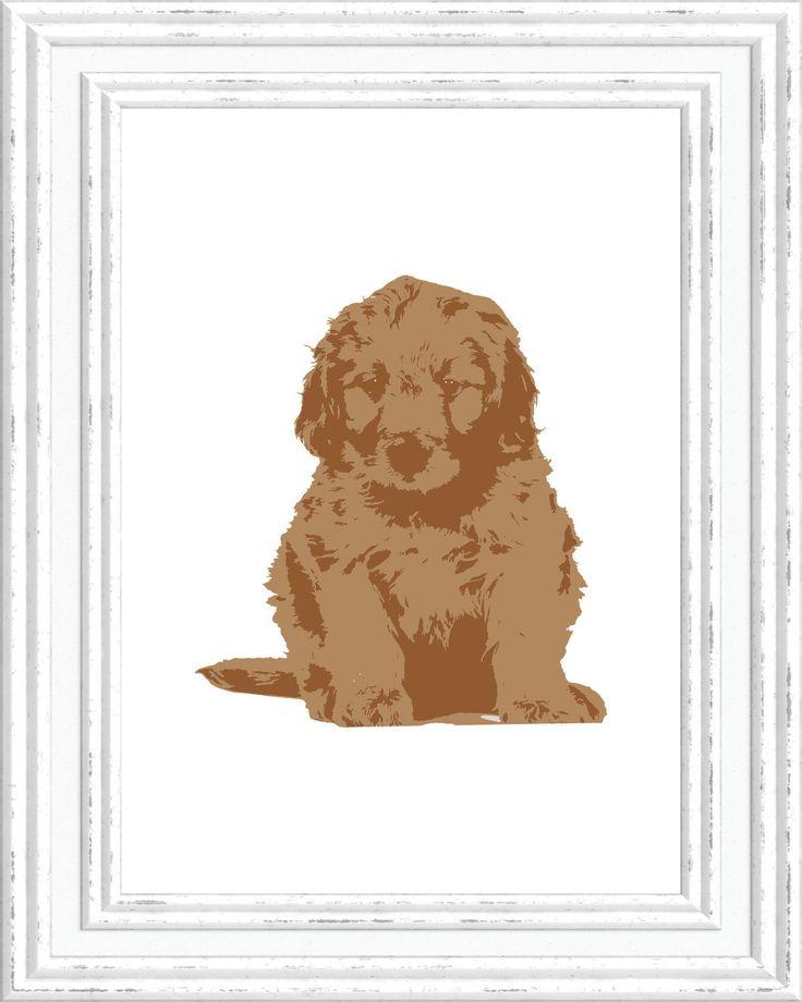 Nursery Print, Goldendoodle Wall Art, Goldendoodle