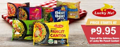 Enjoy all the delicious flavors of Lucky Me Pansit Canton! Price starts at P9.95!