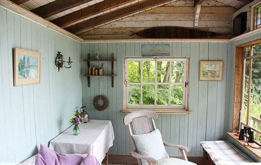 garden summer house interior