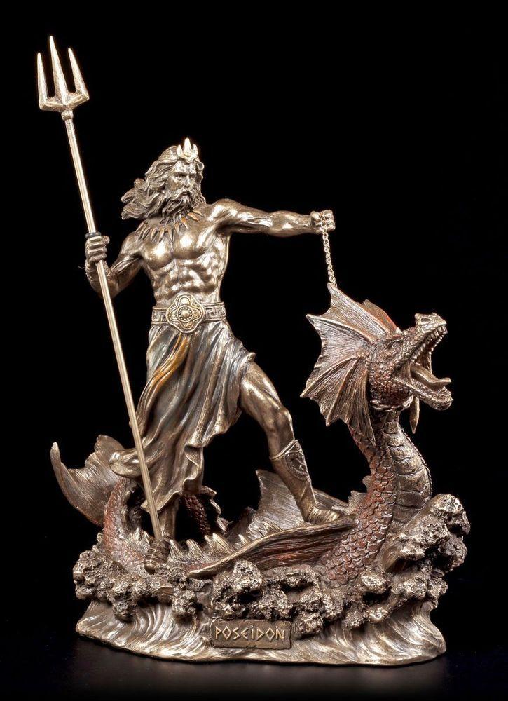 Poseidon Figur - Reitend auf Seeungeheuer- Veronese Statue Neptun Gott Meer in Möbel & Wohnen, Dekoration, Dekofiguren | eBay