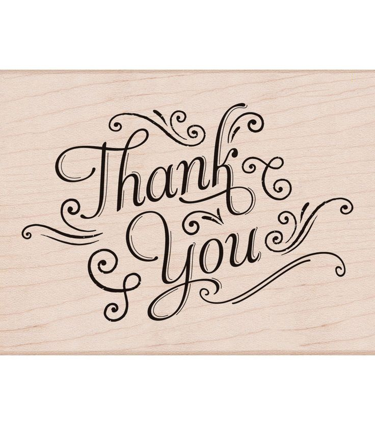Hero Arts Mounted Rubber stamps Thank You With Flourishes
