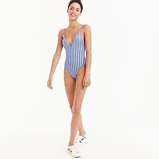 sale retailer 28f68 98250 J.Crew Lowrider bikini bottom in rainbow seersucker