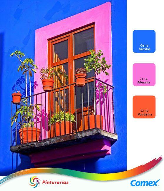 Algunos colores muy mexicanos para la fachada de tu casa for Colores de casa para afuera