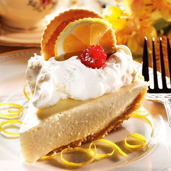 Lemon Cheesecake with Meyer Lemon Moravian Cookie Crust