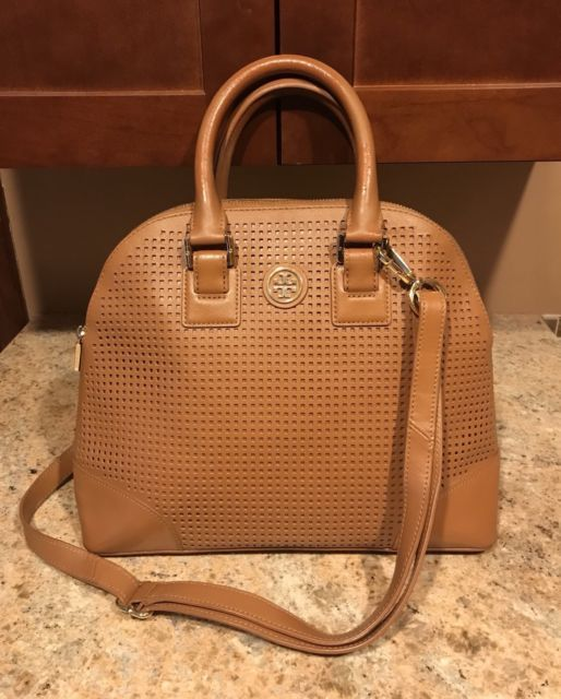 Tory Burch Robinson Perforated Dome Satchel | eBay
