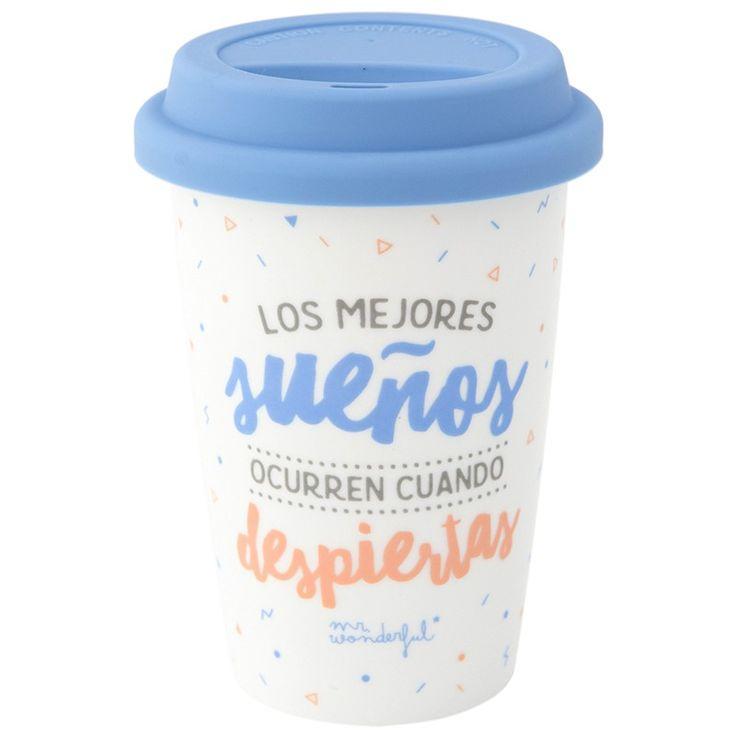 "Mug para llevar ""Los mejores sueños"" 330 ml - Mr Wonderful"