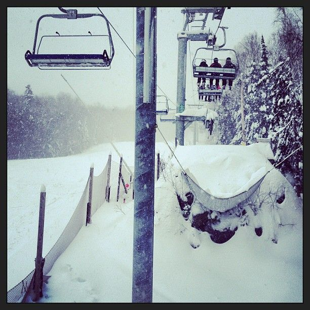 #saintsauveur #montsaintsauveur #mssi #winter #winterstorm #storm #perfectcondition #chairlift