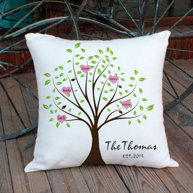 Family Tree Pillow Cover,Christmas Gift,Family Decorative