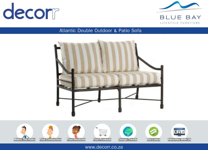 #DecorrOutdoor Atlantic Double Outdoor & Patio Sofa at http://www.decorr.co.za/blue-bay/   #decorrpromo