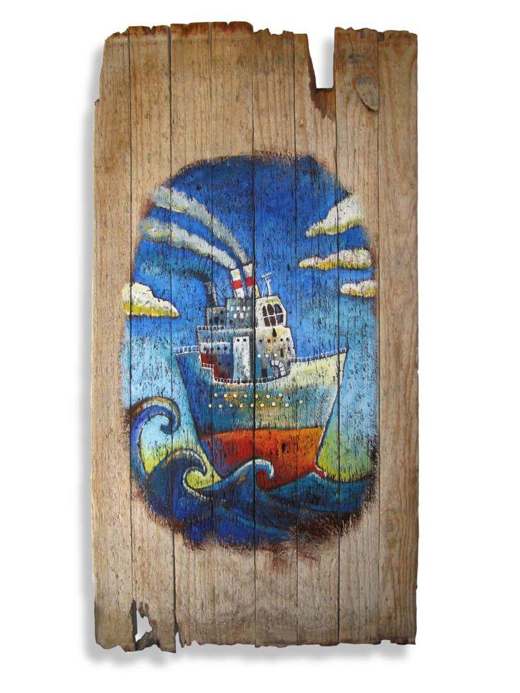 Ship in a big sea – a new nautical and old world theme. <carnegie@mweb.co.za>