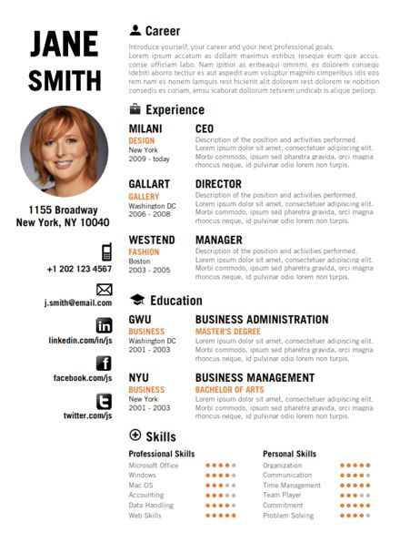 Professional Business Resumes 10 Best Cv Examples Images On Pinterest  Creative Resume Resume .