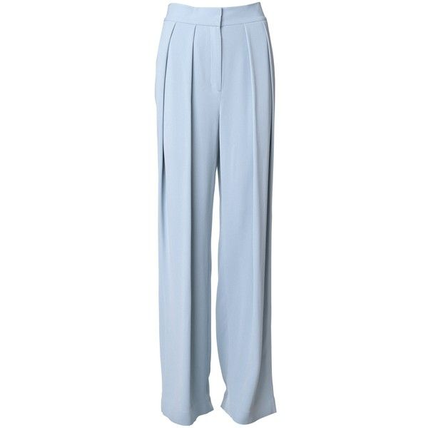 By Malene Birger Firoza wide pants ($310) ❤ liked on Polyvore featuring pants, bottoms, trousers, housut, брюки, pleated wide leg pants, pleated trousers, loose fitting pants, loose fit pants and drop crotch pants
