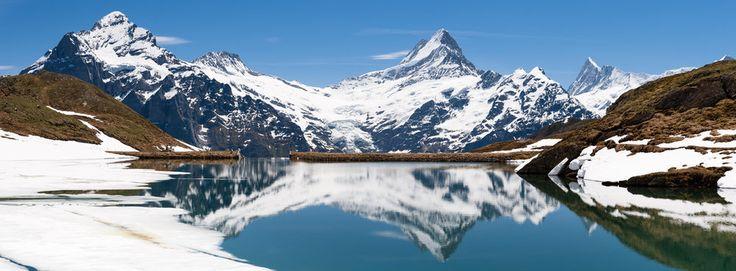 Amazing lake in swiss alps