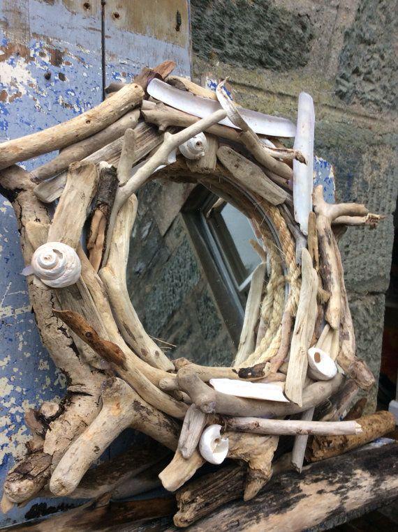 Driftwood Mirror Round Driftwood Mirror Round by DaisysDriftwood