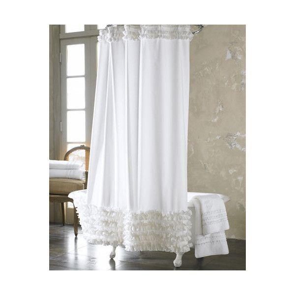 Best 25+ Ruffle shower curtains ideas on Pinterest | Rustic shower ...
